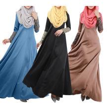 2016 Traditional Long Sleeve Lace Cuff Muslim Abaya