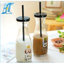 Botella de vidrio al por mayor para la leche / la bebida / el agua