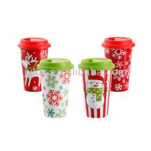 schöne Keramik Weihnachtsbecher