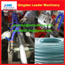 Línea de producción de tubo de manguera reforzada con alambre de acero de PVC