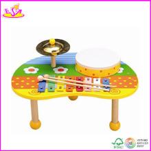 2014 nouveau jouet en bois instrument de musique, instrument de musique en bois populaire et vente chaude instrument de musique coloré mis W07A054
