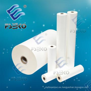 Super Stick BOPP película de rollo de laminación de brillo térmico con pegamento (FSEKO-35mic)