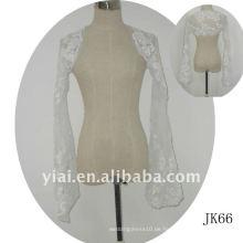 JK66 Frauen Perlen lange Ärmel Hochzeit Jacke