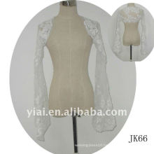 JK66 women Beaded Long sleeves wedding jacket