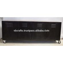 Vintage Industrie-Metall-Sideboard aus Holz
