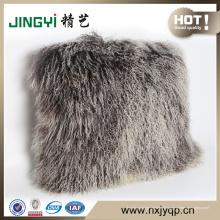 Couvertures molles de sofa de fourrure d'agneau mongole de vente