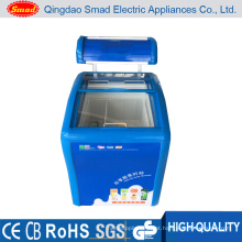 Venda especial do congelador do gelado, congelador de ETL Approved Ched, congelador de vidro curvado da porta