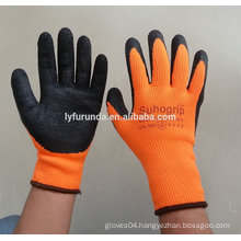 7 gauge acrylic black latex coated gloves ,wrinkle finish