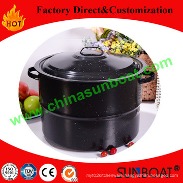 21qt Enamel Stock Pot with Cover