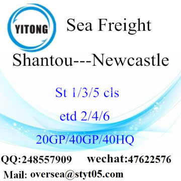 Fret maritime de Port de Shantou expédition à Newcastle