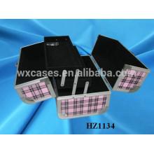 cosmética profesional aluminio bolsas casos con bandejas dentro de China fabricante