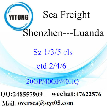 Shenzhen Port Sea Freight Shipping ke Luanda