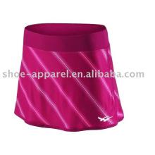 Nueva marca de faldas de tenis de poliéster barato muestra disponible