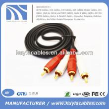 2 RCA zu 2 RCA Kabel 1.5m, 3m, 5m, 10m