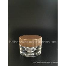 Акриловые овальные кремовые банки для косметической упаковки