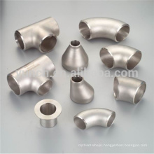Hot sale ASTM B363 gr2 pure 45 degree bend titanium elbows pipe fitting