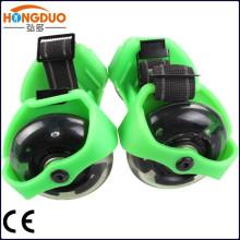 мигающий роликовых коньков без ботинок роликовые коньки которые крепятся к обуви