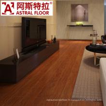 Chambre à coucher de couleur de cendre utilisée plancher de stratifié de 12mm
