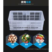 Panier de rangement en plastique adapté aux besoins du client, panier de légumes en plastique, panier de poissons en plastique