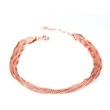 24k ouro enchido prata esterlina cadeia de cadeia multi curto bead cadeia pulseira estilo indiano
