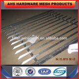 steel angle rails palisade fencing for Telecom Tower