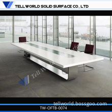 2014 Hot Sale Marble Stone Conference Table Power Outlet for Office