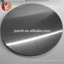 99,9% dia150mm titane disque cr tio2 pulvérisation d'argent cible