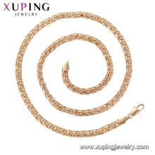 44756 moda não stone18K banhado a ouro colar de corrente xuping jóias