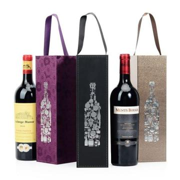 Custom Mewah Folding Magnetic Closure Wine Paper Box