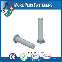 Feito em Taiwan Stainless Steel Flush Montado Não roscado Self Clinching Pilot Pin