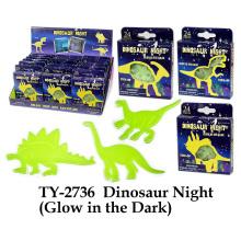 Dinosaur Night Glow en el juguete oscuro