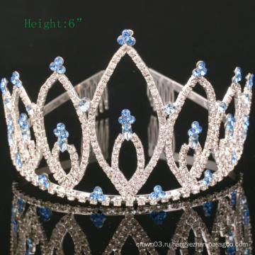 Пользовательские простой дизайн короны горный хрусталь Tiara Crystal Crowns