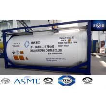 21000L carbono tanque de acero recipiente para Ahf químicos peligrosos con válvulas japonés