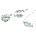 Vente en gros Bijoux Mode femme AAA CZ 925 Silver Set (S3286)