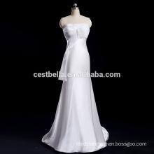 Sheath Satin Slim Fit bridal gown Mermaid wedding dress