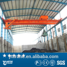 Professional Double Beam Overhead Grab Crane with electric trolly