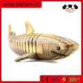 Artesanía en madera de madera personalizada artesanal tiburón vivo