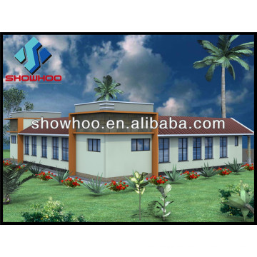 casa de moldura prefabricada de aço leve villa de luxo