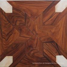 Chão de parquet da arte da decoração da noz