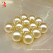 Perles droles naturelles d'or Southsea de 9 mm