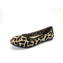 Damen Animal Print Strick Ballerinas Schuhe