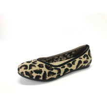 Women's Animal Print Knit  Ballet Flats Shoes