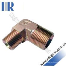 90 Connecteur de tube d'adaptateur hydraulique mâle coude BSPT Fititng (1T9-SP)