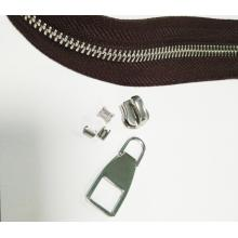 High Strength Metal Zipper Stops untuk produk Kulit