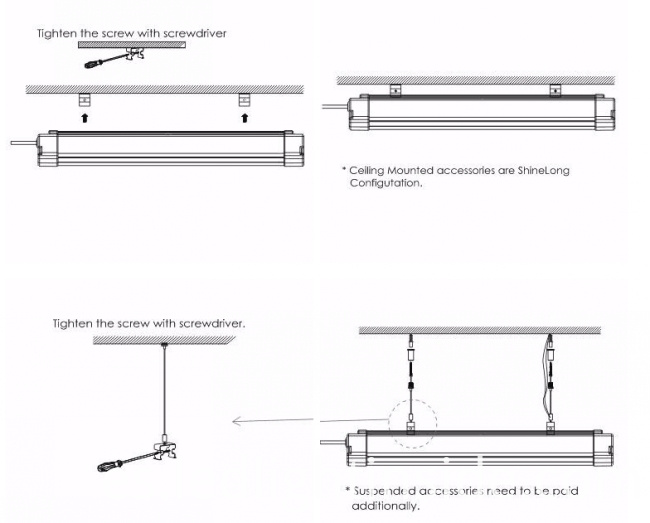 40W LED Linear Tri-Proof Light IP65