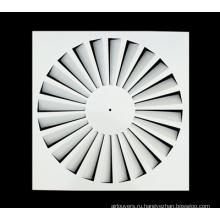 Квадратный потолочный диффузор с фиксированными лезвиями, вихревой диффузор из листового железа