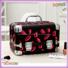 Hot Red Lips Printing PVC Empty Makeup Vanity Box (SACMC060)