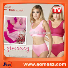 Seamless Sexy Sport Bra Genie Bra With Removable Pads