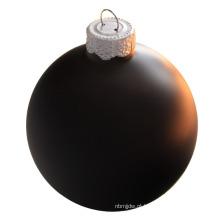 Bola de vidro preta de 100 milímetros de impressão de alta qualidade