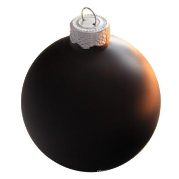 Высокое качество печати 100mm Черное Рождество стеклянный шар